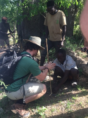 Learning to make fire with the Hadza.