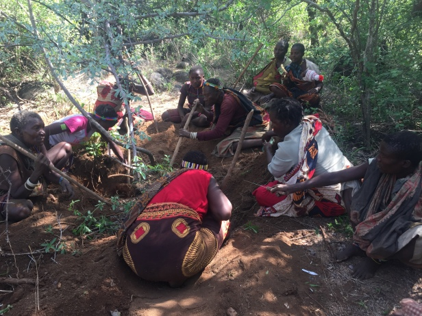 I was able to dig for tubers with these Hadza women!